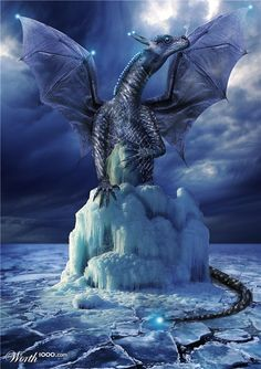Preston the ice dragon relaxing atop his ice dragon McMansion. Such strange ideas about creature comforts.