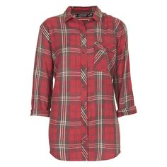 TOPSHOP Oversized Check Shirt ($60) ❤ liked on Polyvore featuring tops, shirts, flannel, jesy, topshop, red, red flannel shirt, long sleeve shirts, red checkered shirt and red checked shirt