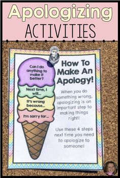 Apologizing – Social Skills Activities For Conflict Resolution Lessons Apologizing – Social Skills Activities For Conflict Resolution Lessons,SEL lessons Related posts:Turn Any Game into a Counseling & Social Emotional Learning Game: 32 SEL Topics. Elementary Counseling, Counseling Activities, Therapy Activities, Learning Activities, Life Skills Activities, Health Activities, Group Counseling, School Counselor Lessons, Emotions Activities