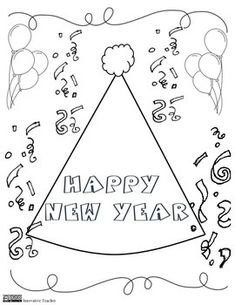 New Year's Coloring Page {FREEBIE}