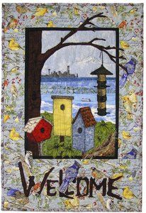Welcome Home quilt pattern from Enchanted Valley Arts.  Pre-order for $13.50