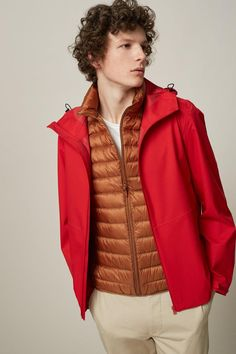 Check out our collection of ultra light down outerwear and puffer jackets and coats for men. Shop warm and lightweight down outerwear in a variety of colors and sizes. UNIQLO US. Vest Jacket, Leather Jacket, Man Down, Downlights, Spring Colors, Puffer Jackets, Look Cool, Winter 2017, Uniqlo