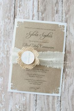 First Communion or Baptism Invitations por EasyMadeInvitations