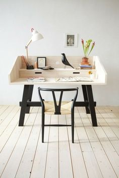 Get the home office design you've ever wanted with these home office design ideas! Feel inspired by the unique ways you can transform your home office! Bureau Design, Workspace Inspiration, Interior Inspiration, Furniture Inspiration, Desk Inspo, Study Inspiration, Inspiration Boards, Sweet Home, Office Workspace