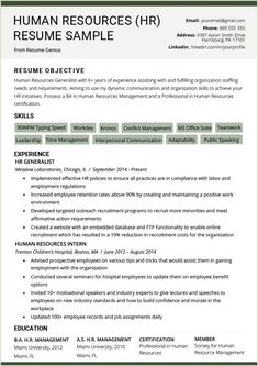 Human Resources Manager Resume Summary Beautiful Human Resources Hr Resume Sample & Writing Tips Cv Format For Job, Job Resume Format, Resume Summary, Hr Resume, Manager Resume, Resume Tips, Sample Resume, Internship Resume, Case Manager