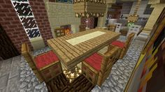 minecraft furniture chairs table chair room dining designs base trap door wool interior elegant wooden minecraftfurniture houses cool tables kitchen