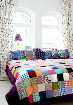 Mrs Boho: Rooms: patchwork quilts