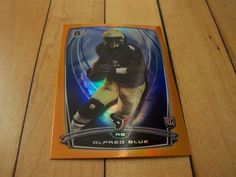 2014 Bowman #98 ALFRED BLUE RC Orange Border Rookie Parallel Card Numbered /299