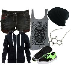 A fashion look from December 2013 featuring lightweight shirts, vintage jean shorts and laced shoes. Browse and shop related looks. Scene Outfits, Grunge Outfits, Cool Outfits, Fashion Outfits, Womens Fashion, Dark Fashion, Fashion Looks, Diy Clothes, Scene Clothes