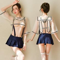 SKU: Tip: Only one size in-stock, suitable for size S / M Outfits include : top + skirt + t back +socks Cute Little Girl Dresses, Cute Girl Outfits, Cute Little Girls, Sexy Outfits, Fashion Outfits, Sexy Lingerie, Asian Lingerie, Lingerie Outfits, School Girl Outfit