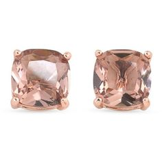 Carolee Rose Gold Pocket Park Cushion Stud Earrings ($45) ❤ liked on Polyvore featuring jewelry, earrings, accessories, rose gold, rose gold jewellery, earring jewelry, pink gold earrings, carolee and studded jewelry