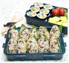 깻잎 불고기 유부초밥