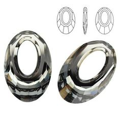 6040 Helios 30mm Silver Night  Dimensions: 30,0 mm Colour: Crystal Silver Night 1 package = 1 piece