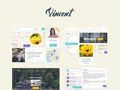 Download Vincent UI Kit PSD UI element - http://www.vectorarea.com/download-vincent-ui-kit-psd-ui-element