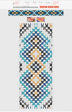 Normal friendship bracelet pattern added by KrazyKnotz. little diamond big diamonds dot dots triangle triangles. String Bracelet Patterns, Diy Bracelets Patterns, Yarn Bracelets, Diy Bracelets Easy, Embroidery Bracelets, Bracelet Crafts, Bracelet Designs, Diy Friendship Bracelets Tutorial, Diy Friendship Bracelets Patterns
