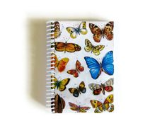Colorful Butterflies  Notebook Spiral Bound  4 by stationeryCiaffi, $17.00