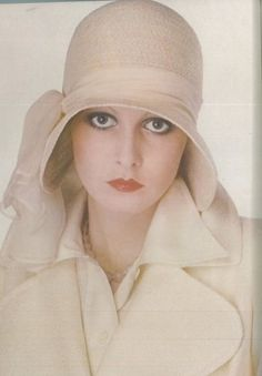 Twiggy in Walter Albini Ensemble, photographed by Justin de Villeneuve for Vogue, 1973. Lesley Hornby Lawson (born Sept 19, 1949) is known by the nickname Twiggy. An English model, actress and singer, she became a prominent British teenage model of swinging 60's. Known for her thin build, hence her nickname and her androgynous look consisting of large eyes, long eyelashes, and short hair. Besides modelling she has had a successful career as a screen, stage and telly actress.