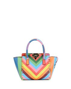 V29MB Valentino 1973 Micro Mini Shopper Bag, Multicolor