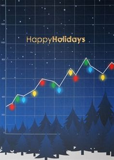 Image result for traditional christmas card wall street