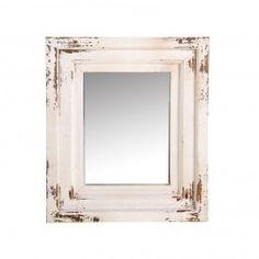 Espejos Vintage madera decoración blanco 38 cm, set de 2 en Nuryba.com tu tienda de muebles y decoracion online