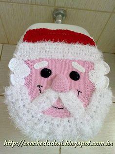 PAP - Papai Noel - Jogo de Banheiro - Artes da Desi -  By Desi Winters