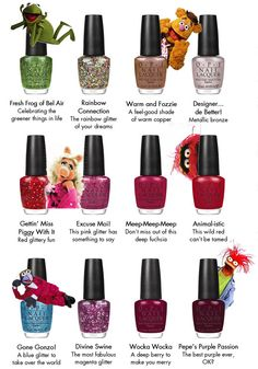 OPI Muppets nail polish collection – Christmas 2011