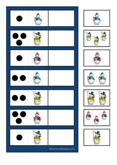 By Autismespektrum. Kindergarten Math Activities, Montessori Math, Space Activities, Autism Activities, Teaching Activities, Activities For Kids, Preschool, Winter Crafts For Kids, Winter Kids
