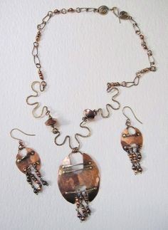 Pure Copper and Brass Designed Necklace and by thedancinggecko
