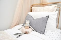 """Ronnie and Georgia scored the first of the competition, for their beautifully styled, """"whimsical"""" children's bedroom. 3 Kids, Children, Bedroom Photos, Kids Bedroom, Kids Rooms, Little Ones, Georgia, Toddler Bed, House Design"""