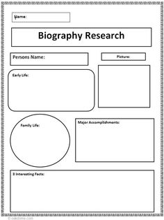 Dr Martin Luther King Blank Biography Outline Worksheet Free To