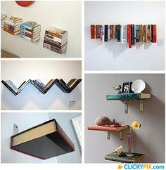 DIY Projects for Reusing Old Used Books Old, used books can have a hard time finding a new life once read. There are made of paper some recycling is certainly an option. But what about up-cycling those old pages? Here are 35 ideas for reusing your old books and turning them into shelves, tables, lamps, …
