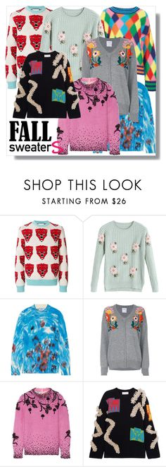 """""""luv fall sweaters"""" by sixtystyle on Polyvore featuring Gucci, Prada, Barrie, Peter Pilotto, sweaters and fall2017"""