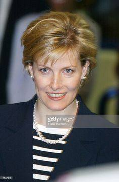 HRH The Countess of Wessex (the former Sophie Rhys-Jones) attends Crenshaw Learn Charter High School during her first visit to California with her husband, The Earl (HRH Prince Edward), April 29, 2002 in Los Angeles, CA.