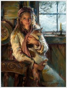 olgachik:  Daniel F. Gerhartz (American, 1965) «Winter's warmth» 2011