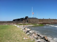 Grounds of Fort Sumter - the beginning