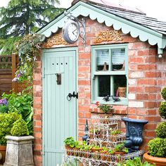 Create the perfect garden retreat with our pick of the best garden shed ideas. Create the perfe Cottage Garden Design, Home And Garden, Best Garden, Garden Rooms Uk, Cottage Garden Sheds, Small Garden Design, Summer Garden, Brick Shed, Brick Garden