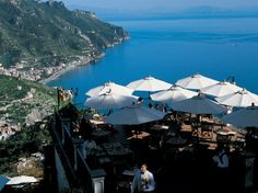 TERRAZZA BELVEDERE  Ravello, Italy    Hotel: Palazzo Sasso    What you'll see: fishing villages along the Amalfi coast, the Tyrrhenian Sea to the southwest