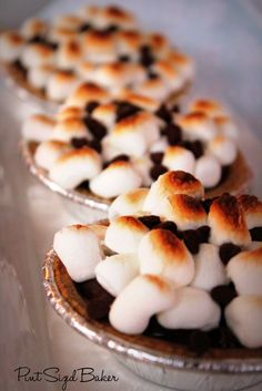 Pint Sized Baker: Chocolate Pudding S'mores Pies