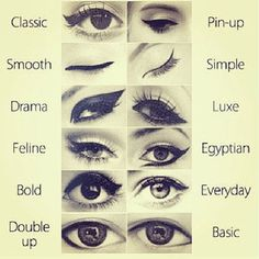 Eyeliner guide to creating different looks