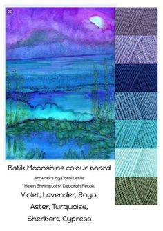 Love the combination of colors in this beautiful artwork color board! Yarn Color Combinations, Colour Schemes, Colour Palettes, Color Harmony, Color Balance, Into The Fire, Colorful Artwork, Colour Board, Color Swatches