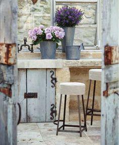 .Love the stool slipcovers
