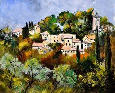 Eygalières (Provenza), pintura original del artista Ledent Pol | DailyPainters.com