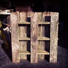 Pallet style shelf unit made from recycled fence boards £85
