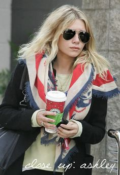 Ashley Olsen out on a coffee run. #style #fashion #olsentwins