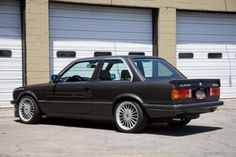 This 1985 Alpina B6 is a rare sight in the USA and will likely outperform all but the most modified E30 M3's. The seller claims over 230hp from the naturally aspirated 6-cylinder and the stance and Euro bumpers make for a fantastic attitude. Dark gray us the perfect color and the rubber lip spo