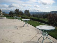 short tables for 2nd patio area
