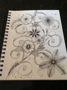 Zentangle Flowers by Diana Turner