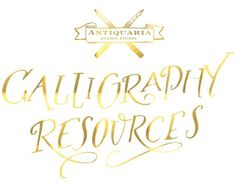 Antiquaria: Calligraphy Tutorial | Calligraphy Resources
