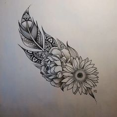 Bonus: Feathers and Flowers and All the Pretty Things! - 31 of the Prettiest Mandala Tattoos on Pinterest - Photos: