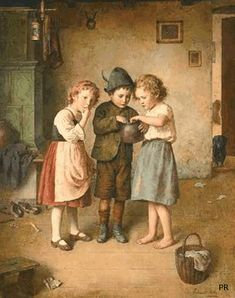 ✥Vintage•Retro•GiF✥ Art And Illustration, Illustrations, Classic Paintings, Beautiful Paintings, Painting For Kids, Art For Kids, Home Bild, Animiertes Gif, Munier